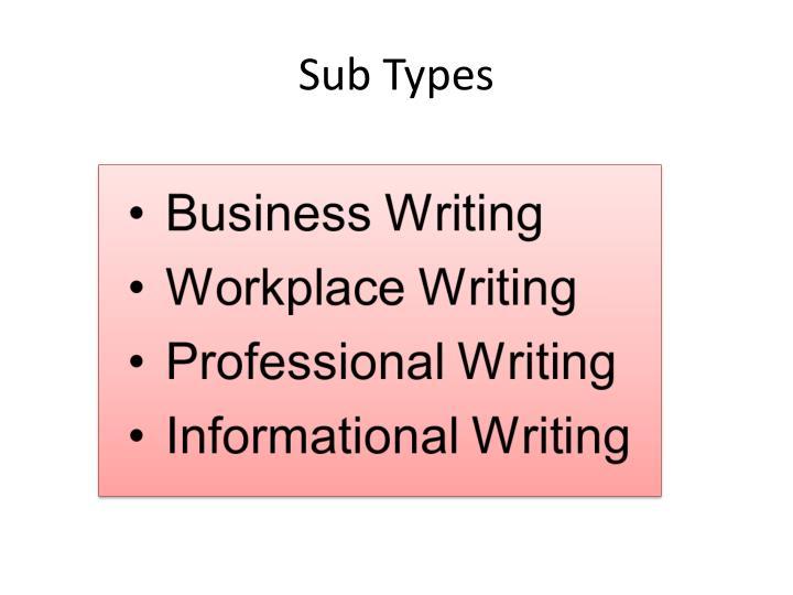 Sub Types