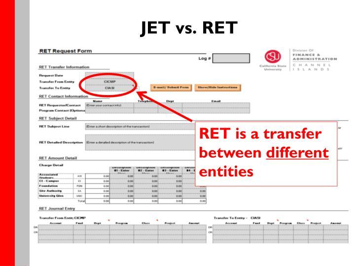 JET vs. RET