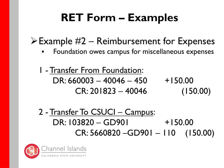 RET Form – Examples