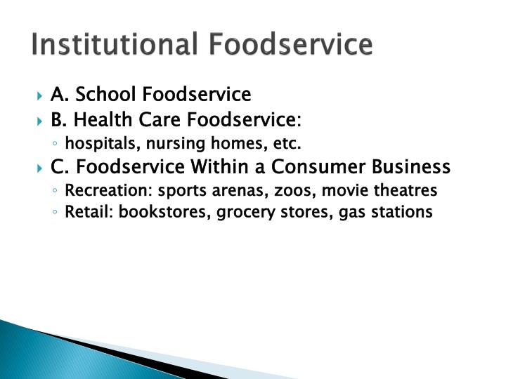 Institutional Foodservice