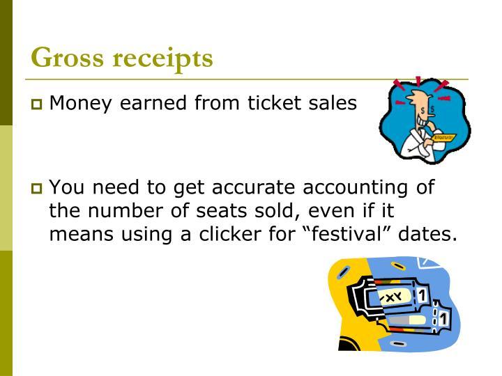 Gross receipts