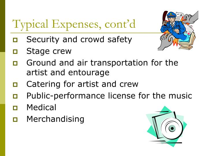 Typical Expenses, cont'd