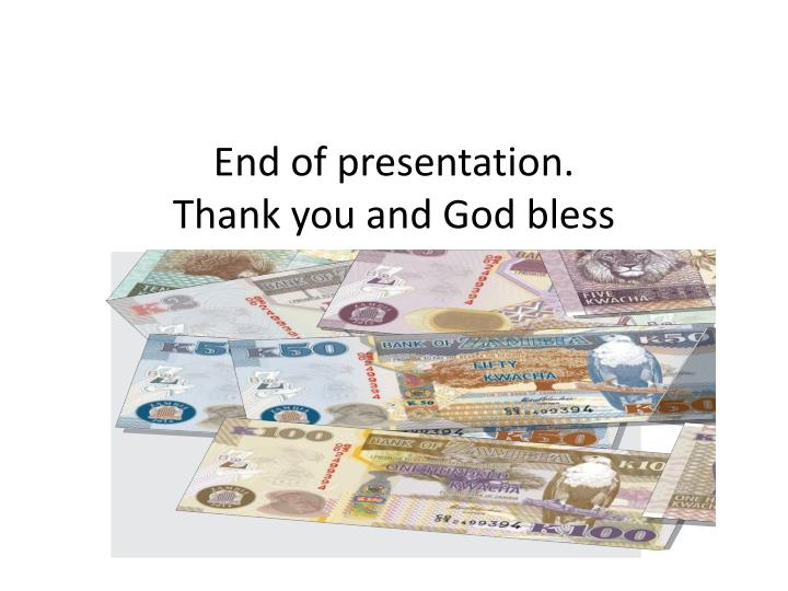 End of presentation.