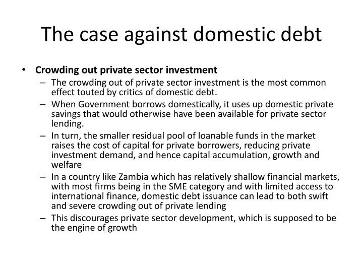The case against domestic debt