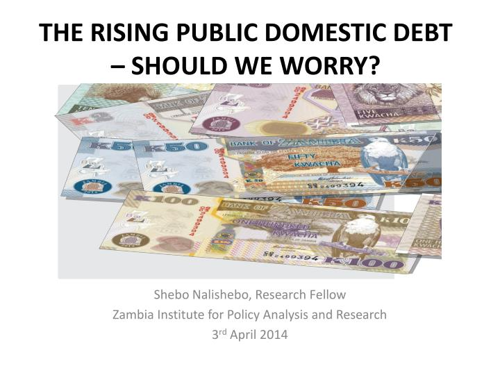 The rising public domestic debt should we worry