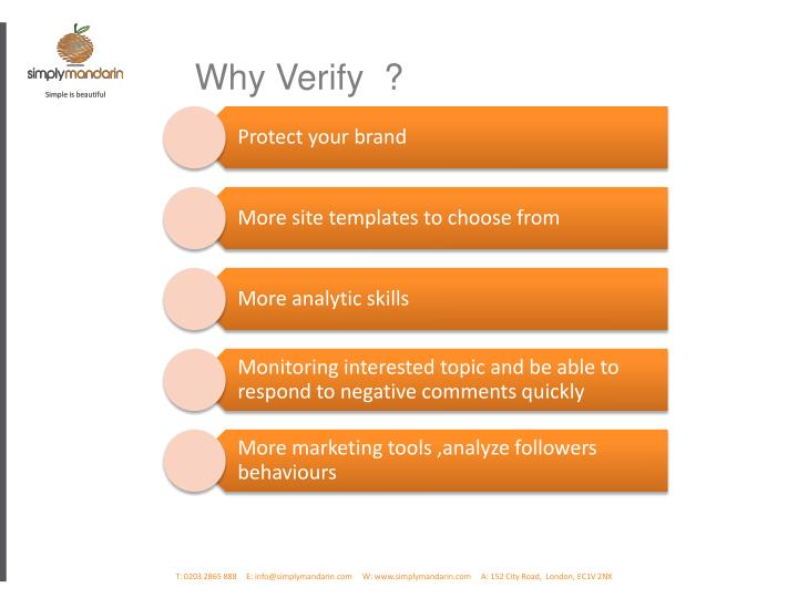 Why Verify  ?