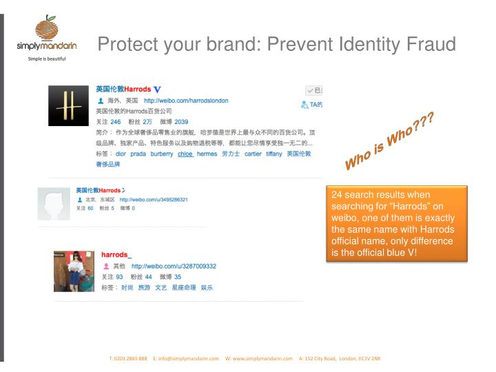Protect your brand: Prevent Identity Fraud