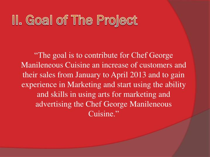 II. Goal of The Project