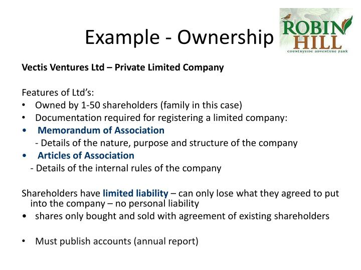 Example - Ownership