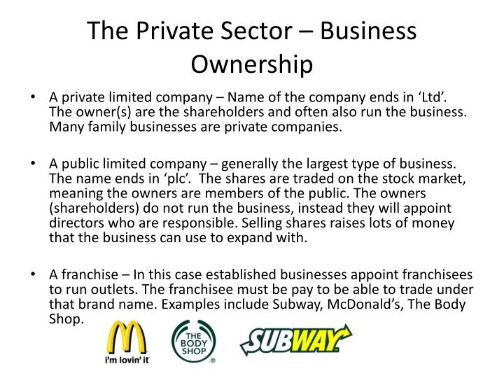The Private Sector – Business Ownership