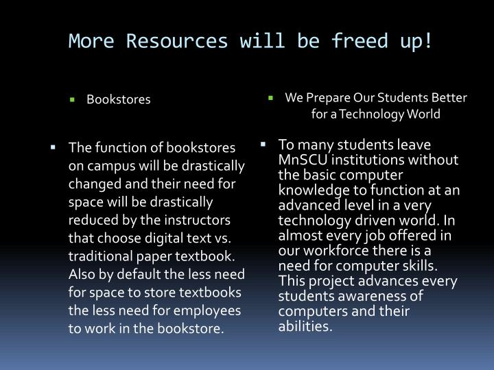 More Resources will be freed up!