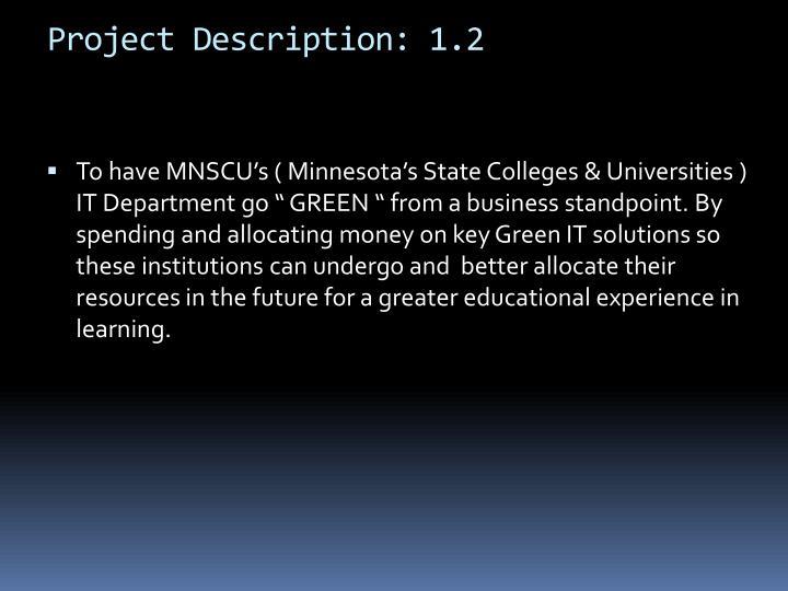 Project Description: 1.2