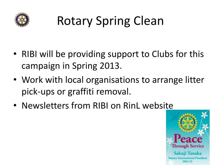 Rotary Spring Clean