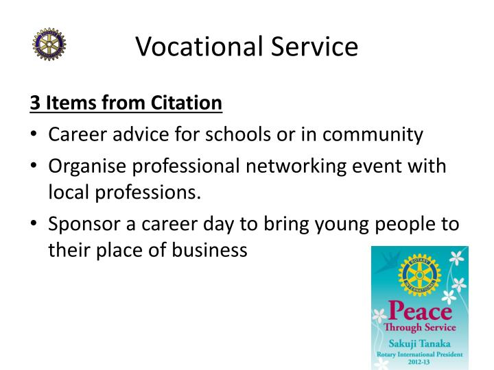 Vocational Service