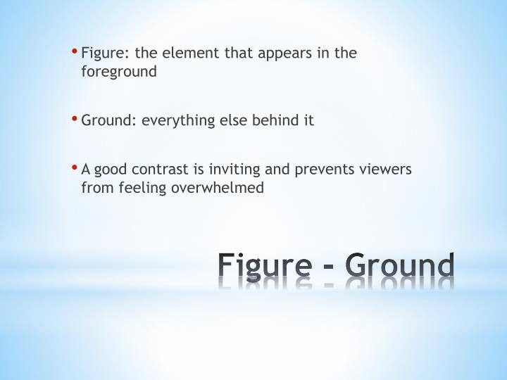 Figure: the element that appears in the foreground