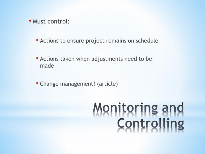 Must control: