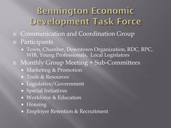 Bennington Economic Development Task Force