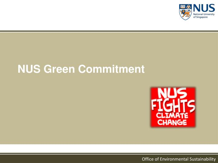 NUS Green Commitment