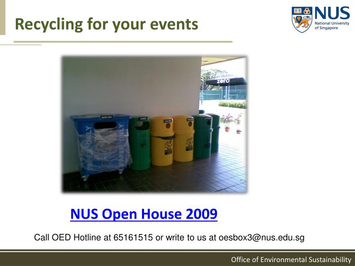 Recycling for your events