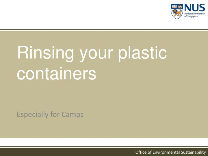 Rinsing your plastic containers
