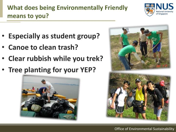 What does being Environmentally Friendly means to you?