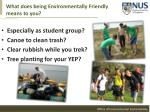 what does being environmentally friendly means to you