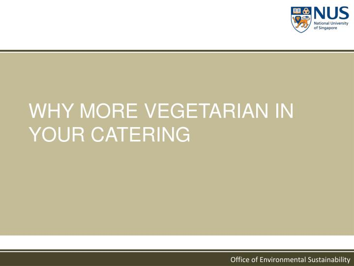 WHY MORE VEGETARIAN IN YOUR CATERING