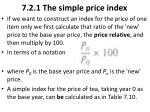 7 2 1 the simple price index