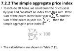 7 2 2 the simple aggregate price index
