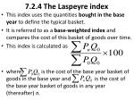 7 2 4 the laspeyre index