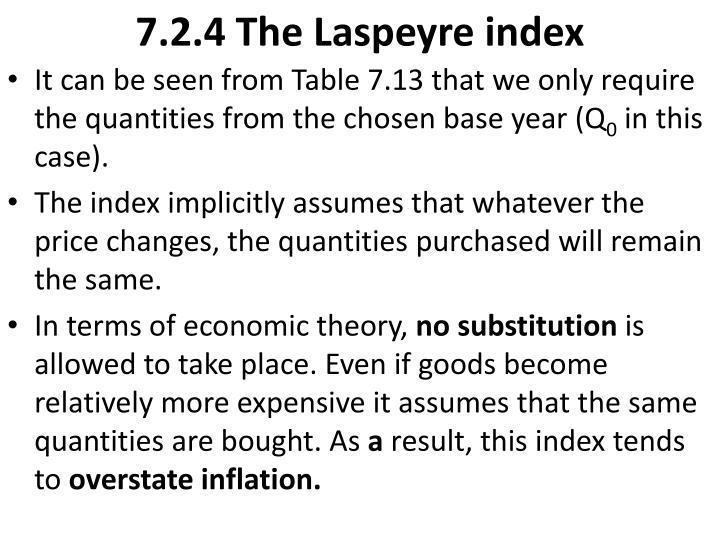 7.2.4 The Laspeyre index