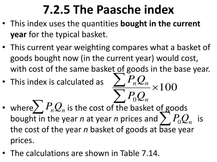 7.2.5 The Paasche index