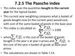 7 2 5 the paasche index