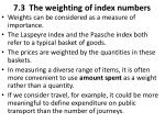 7 3 the weighting of index numbers