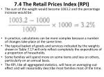 7 4 the retail prices index rpi7