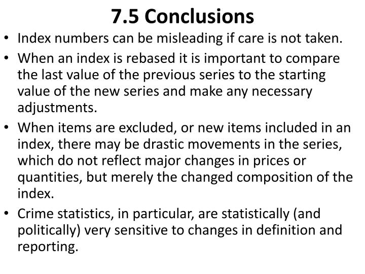 7.5 Conclusions