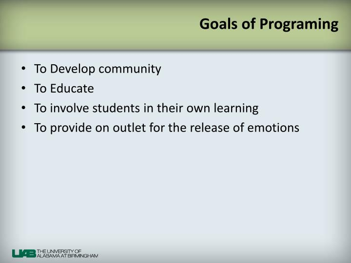 Goals of programing