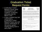 graduation ticket request forms