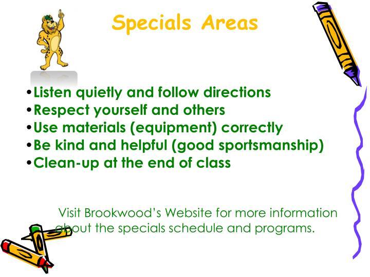 Specials Areas