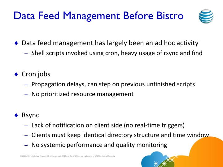 Data Feed Management Before Bistro