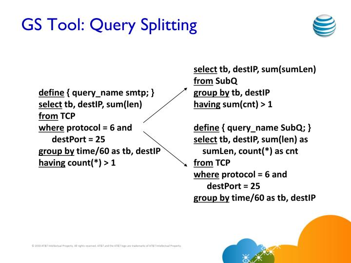 GS Tool: Query Splitting