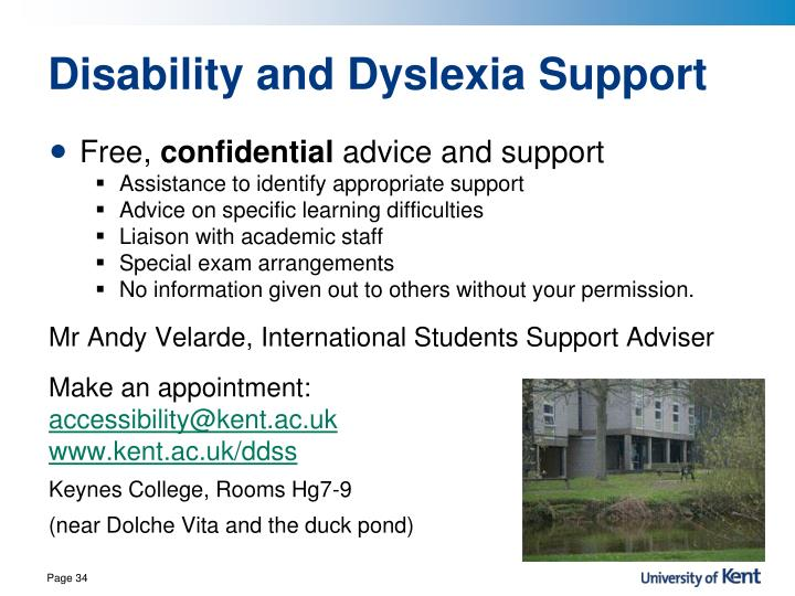 Disability and Dyslexia Support