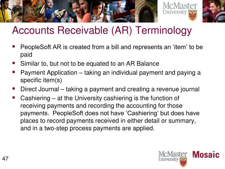 Accounts Receivable (AR) Terminology