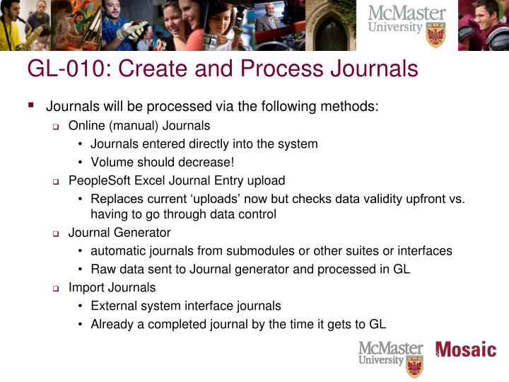 GL-010: Create and Process Journals