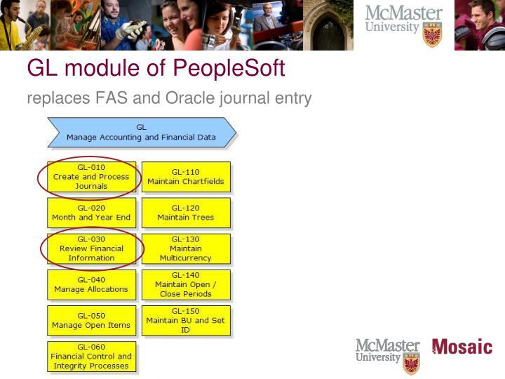 GL module of PeopleSoft