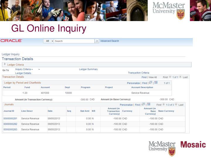 GL Online Inquiry