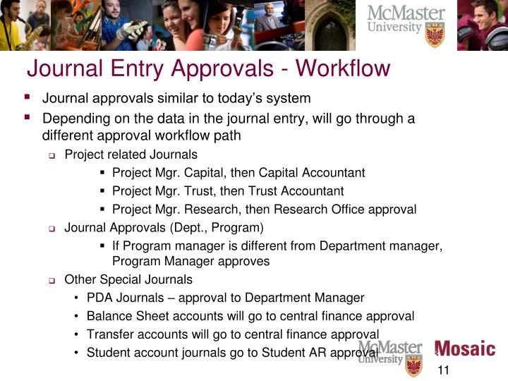 Journal Entry Approvals - Workflow