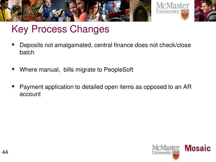 Key Process Changes