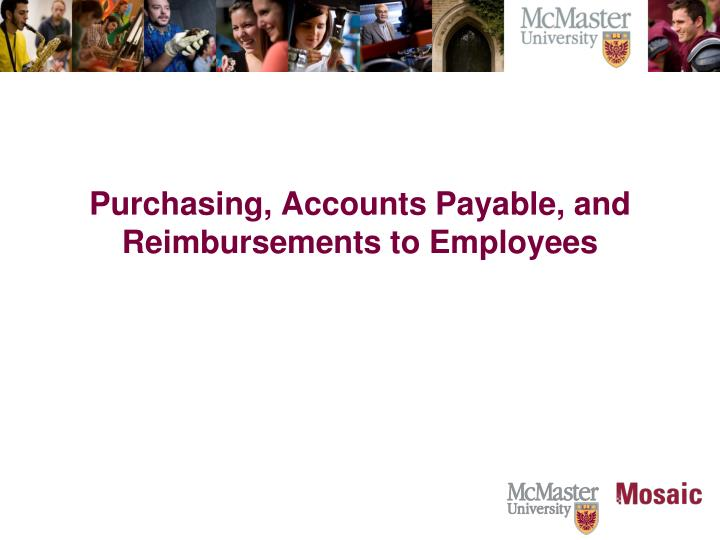 Purchasing, Accounts Payable, and