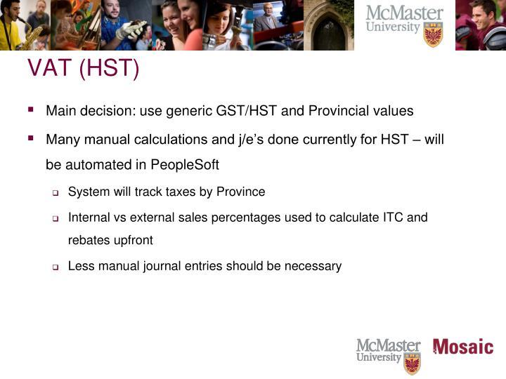 VAT (HST)